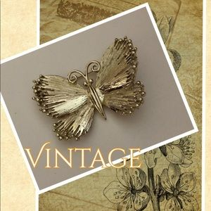 Vtg signed Usner Butterfly Brooch